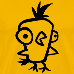 Crazy Chicken T-skjorter - Premium T-skjorte for menn