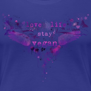 Love Life Stay Vegan [pink/purple] T-Shirts - Frauen Premium T-Shirt