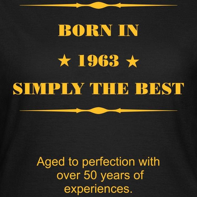 Woman Shirt - Born in 1963