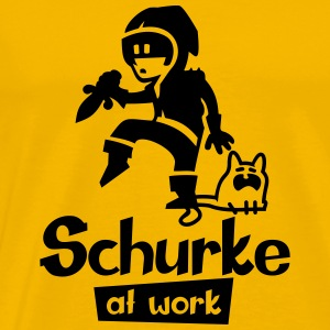Schurke at work - Männer Premium T-Shirt