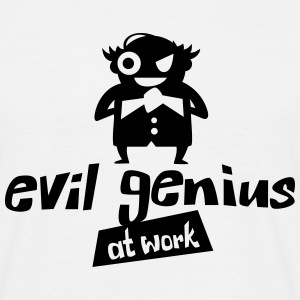 Evil genius at work - Männer T-Shirt