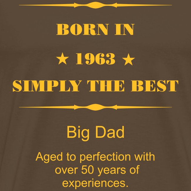 Shirt - 1963 - mit eigenem Namen - Simply the Best