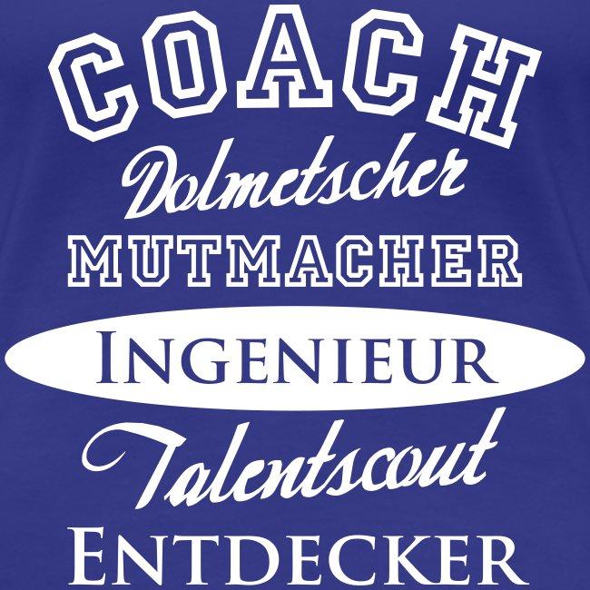 Frauen-Shirt figurbetont Motiv Coach
