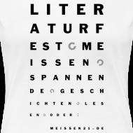 Motiv ~ literaturfest-sehtest-girlieshirt (weiß)