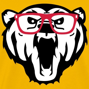 bear glasses beer bril T-shirts - Mannen Premium T-shirt