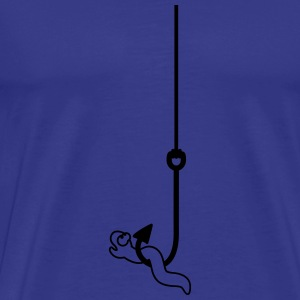 Worm On The Hook T-shirts - Herre premium T-shirt