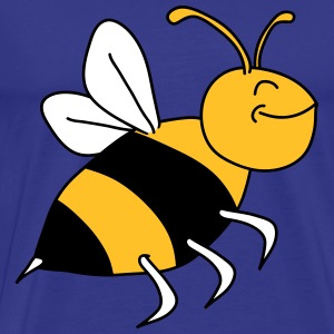 Happy Bee T-skjorter - Premium T-skjorte for menn