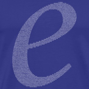 Numbers in decimals: Natural Constant e T-Shirts - Men's Premium T-Shirt