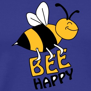 Bee Happy T-shirts - Premium-T-shirt herr