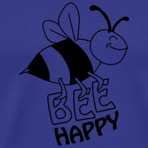 Bee Happy T-shirts - Herre premium T-shirt