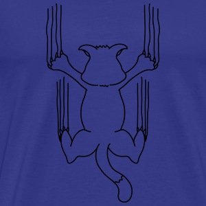 Cat Scratch T-shirts - Herre premium T-shirt