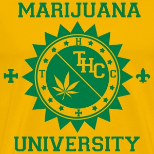 Marijuana Rasta Smoke University T-shirts - Herre premium T-shirt
