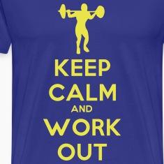 keep_calm_and_workout T-skjorter