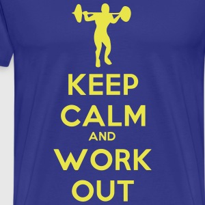 keep_calm_and_workout Camisetas - Camiseta premium hombre