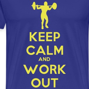 keep_calm_and_workout T-skjorter - Premium T-skjorte for menn