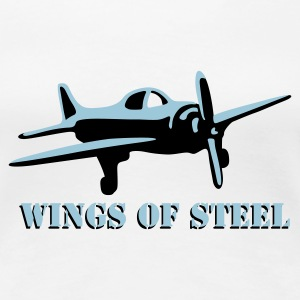 wings_of_steel_2c T-shirts - Dame premium T-shirt