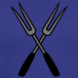 Barbecue Forks T-shirts - Herre premium T-shirt