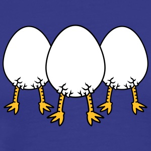 Chick In Egg Crew T-shirts - Herre premium T-shirt