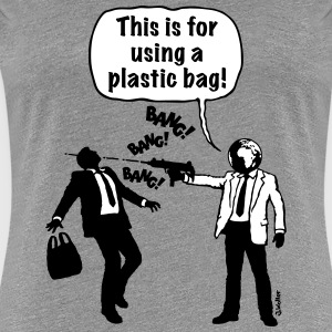 Cartoon: Anti-Plastic Waste Activist (2C) T-Shirts - Women's Premium T-Shirt