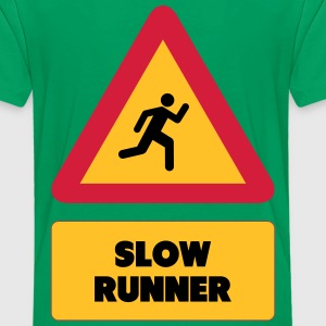 Slow Runner T-shirts - Teenager premium T-shirt