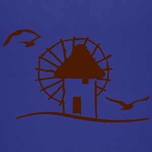 Griechische Windmühle / Greek windmill (1c) T-Shirts - Teenager Premium T-Shirt