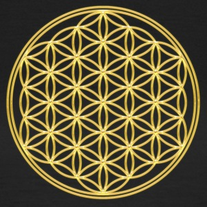 FEEL THE ENERGY, Flower of Life, Gold, Sacred Geometry, Protection Symbol, Harmony, Balance Pullover - Frauen T-Shirt