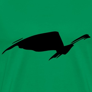 abstract bird - Men's Premium T-Shirt