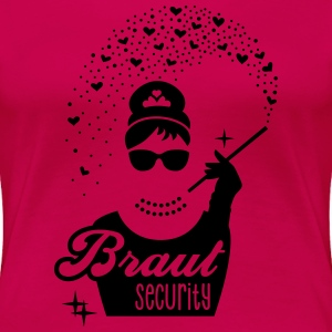 Braut Security - Diamant Girl - JGA - Tiffany - 1C T-Shirts - Frauen Premium T-Shirt