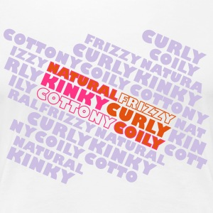 Natural Frizzy Kinky Curly Cottony Coily T-Shirts - Women's Premium T-Shirt