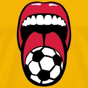 foot tire langue language mouth football Tee shirts - T-shirt Premium Homme