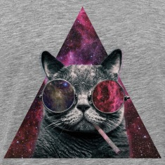 Hipster Cat Smoking Tee shirts