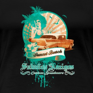 Sunset Beach - Frauen Premium T-Shirt