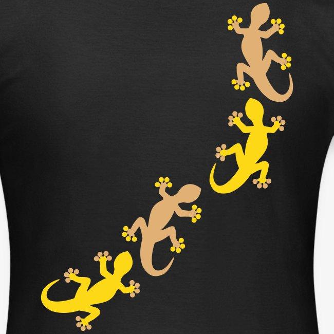 Vier Geckos