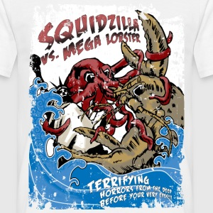 Squidzilla Vs Mega Lobster T-Shirts - Men's T-Shirt
