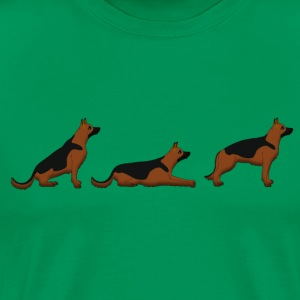 sit down stay german shepherd Camisetas - Camiseta premium hombre