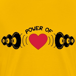Power of Heart Camisetas - Camiseta premium hombre