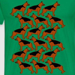 german shepherds Camisetas - Camiseta premium hombre