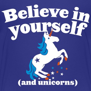 Believe in yourself (and UNICORNS) plain Shirts - Kids' Premium T-Shirt