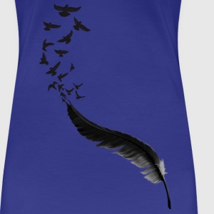 Feather Birds T-shirts - Vrouwen Premium T-shirt