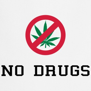 No Drugs / Say no to drugs / Cannabis / Drogen Kookschorten - Keukenschort
