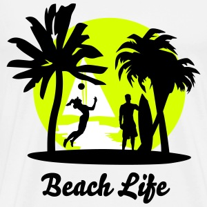 Beach Design - Premium T-skjorte for menn