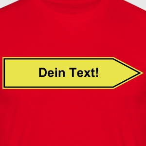 Name sign to be personalized with your text 2c T-Shirts - Men's T-Shirt