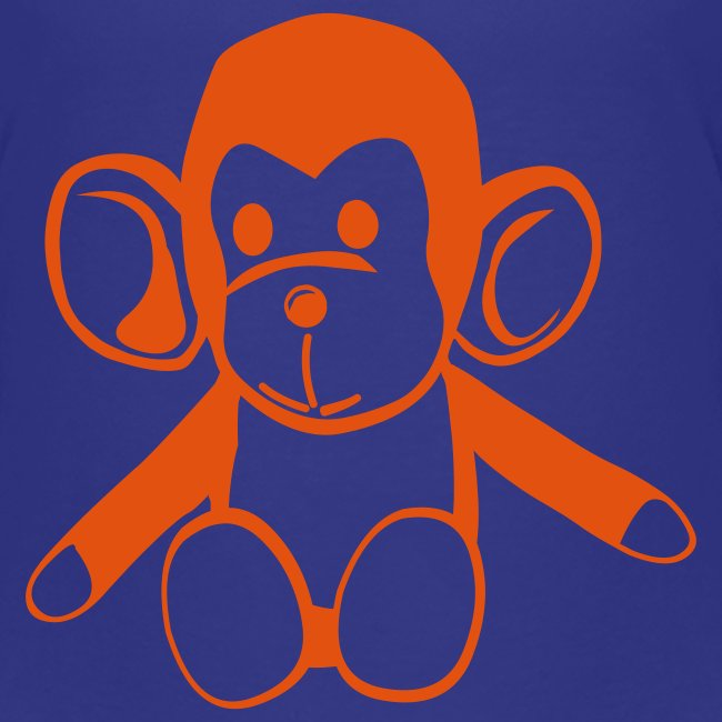 Cute For Kids -  Monkey (Blue/Red)