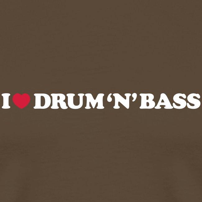 I Love Drum & Bass Black (XXXL)