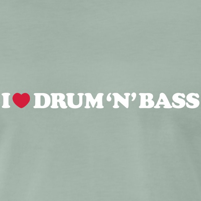 I Love Drum & Bass Black (XXXL)