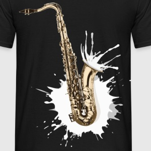 Gold Saxophone Tee shirts - T-shirt Homme