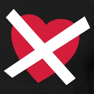 Svart Crossed our Heart - No Love - No Heart T-skjorter - T-skjorte for menn
