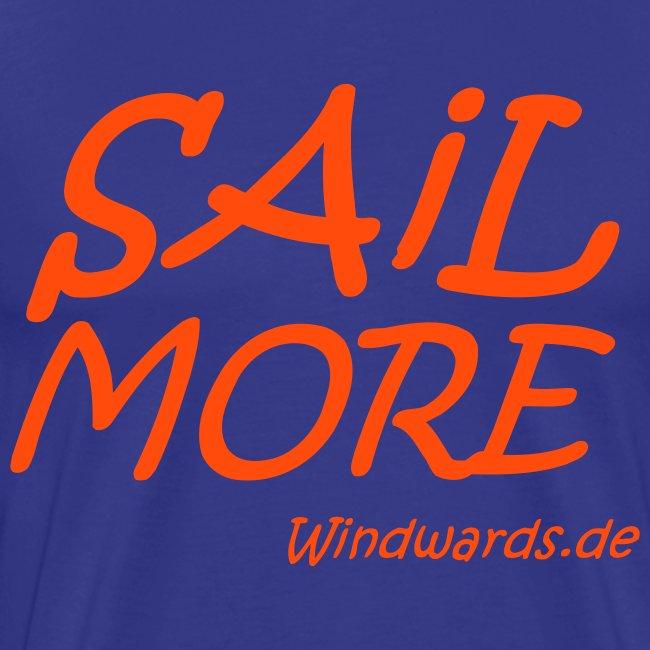 Sail More Work Less t Shirt fuer Maenner