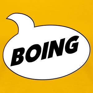 Yellow *Boing* Comic Shirt Ladies' - Women's Premium T-Shirt