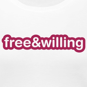 Weiß Free and willing Girlie - Frauen Premium T-Shirt